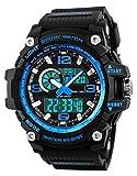 Relojes deportivos para hombre, resistente al agua digital militares relojes con cuenta atrás/Temporizador...