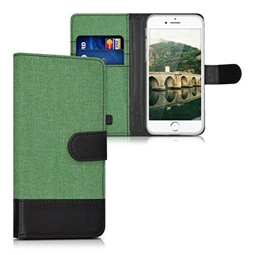 kwmobile Hülle für Apple iPhone 7 / 8 - Wallet Case Handy Schutzhülle Kunstleder - Handycover Klapphülle mit Kartenfach und Ständer Rosegold .Mintgrün