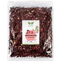 NaturaForte 1000g Hibiskus-Blüten 1a Premiumqualität, Ganze luftgetrocknete Blüten für Hibiskus-Tee im Aroma-Beutel, Ohne künstliche Farbstoffe, Aromen oder Zusätze, Ungeschwefelt für Tee-Kenner