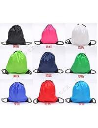 Preisvergleich für Arpoador Polyester Tuch Tasche Individuelle Nylon Kordelzug Taschen Kordelzug Rucksack Kordel (grün)