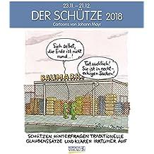 Schütze 2018: Sternzeichen-Cartoonkalender