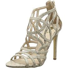 La Strada Nude Snake Leather Look Sandal - Sandalias Mujer