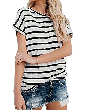 JYC Camiseta Personalizada,2018 Nuevo Blusas Para Mujer,Vaquera Gasa Camisetas Mujer, Mujer Corto Manga Moda Tops...