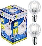Long Life Company - Lampadina alogena sferica E14, da 28 W, a basso consumo energetico, misura piccola, 10 pezzi