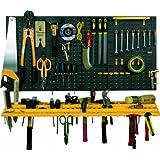 Garage Wand Werkzeug Rack Storage Kit Tools Organizer Home Ablagen inkl. 50Haken