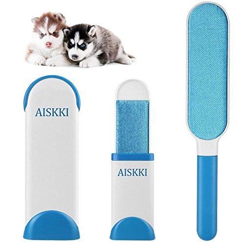 Haustier Fell Fussel Bürste Haarentferner Fellpflege von Hunde Katzen Haarroller Reinigungsbürste Pflegewerkzeug Pelzentferner (Hellblau)