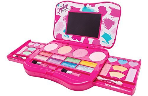 My Laptop Girls Makeup Set by Make it Up Fold Out Makeup Palette with Mirror and Secure Close - SAFETY TESTED- NON TOXIC / Mein Laptop Makeup Set von Make it Up Falten Sie Make-up-Palette mit Spiegel und Secure Close SICHERHEIT GETESTET - NICHT GIFTIG