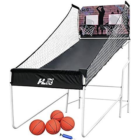 HLC Canasta de baloncesto con soporte, plegable y portátil, con calculador de anotación de gol Regalo perfecto, Ideal Actividad con familiares y