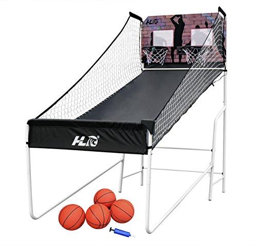 HLC Canasta de Baloncesto con Soporte, Plegable y portátil, con calculador de anotación, Ideal Actividad con Familiares y Amigos