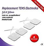 Body Clock 4 Pk Selbstklebend Elektroden Quadratisch 50x50mm - selbstklebend, für TENS/EMS Bild 1