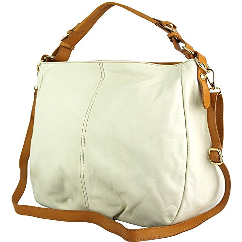 BORSA HOBO TOURNON IN PELLE MORBIDA DI VITELLO 3119 Beige-cuoio