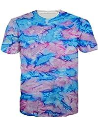 Leapparel Unisex 3D Digital Imprimé Personnalisé Manche Courte T-Shirt Personnalisé Tee-Shirts