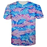 Leapparel Unisex 3d Tie Dyed Graphic Designd Cool T Shirts Tees Clothes M