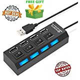 High Speed USB 2.0 4-Port Bus Powered Hub For Pendrive, Mouse, Keyboards, Camera, Mobile, Desktop, Tablet, PC, Laptop, TV Digital Cameras, IPods And IPhones, Card Readers, USB Speakers, And More With Switch And LED Indicator (Get A Free Surprised Assured