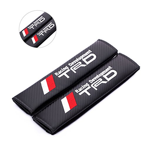 Fireman s Pair New Carbon Fiber Seat Belt Cover Shoulder Pad Cushion For  All Model with TRD 9bffd896167b