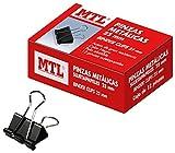 MTL–Confezione di 12mollette in metallo, colore: nero 25 mm