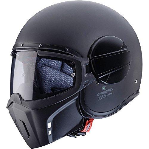 Caberg fantasma Modular Open Face casco de motocicleta, color negro