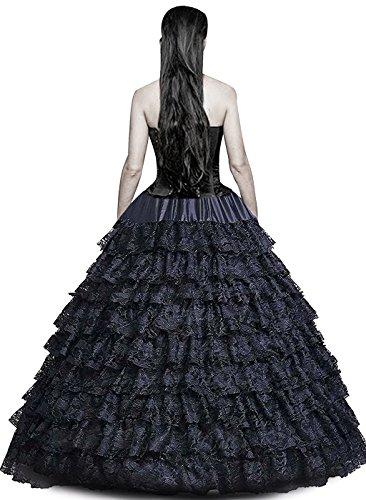 Edith qi Damen 6 Ring Verstellbar Unterrock Reifrock Spitze Lace Petticoats Crinoline für...
