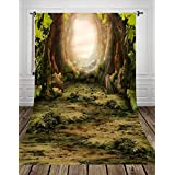 Coloc Photo® 150*300cm le tissu de l'art photographie toile de fond Vintage photo studio photographique fond Old forêt nouveau-nés enfants fond D-8270