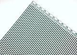 Melody Jane Maison de Poupées Vert Foncé sur Blanc Windsor Bande Miniature Papier Peint X 3