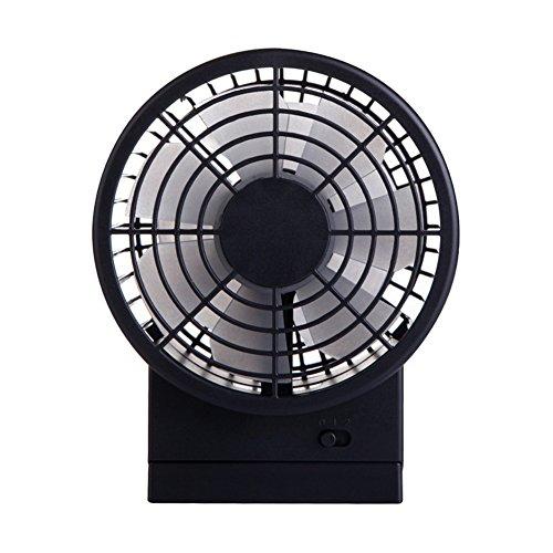 Fußball Elektrischen Handheld (DULPLAY Mini USB-ventilator,Ventilator,Mini-handheld ventilator,5 futaba Doppelmotor Wohnheim Kühlung USB wiederaufladbar Still Büro zu hause -schwarz 15.3x12x8.6cm(6x5x3inch))