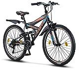 Licorne Bike Strong V 26 Zoll Mountainbike Fully, MTB, geignet ab 150 cm, V...