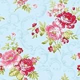 Antik Blau/Rosa Rose Blume 31171