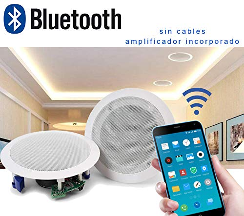 Audibax CM408L-BT Altavoces Techo Blanco Bluetooth