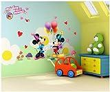 ToPro Autocollants muraux décoratifs pour chambre d'enfant Motif Mickey et Minnie...