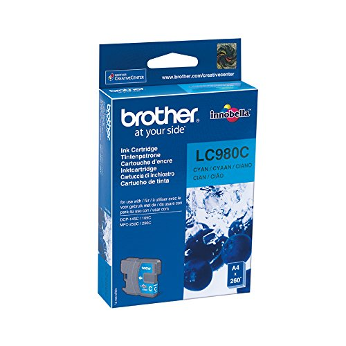 Brother LC-980C Cartouche d'Encre d'Origine Bleue 260 Pages