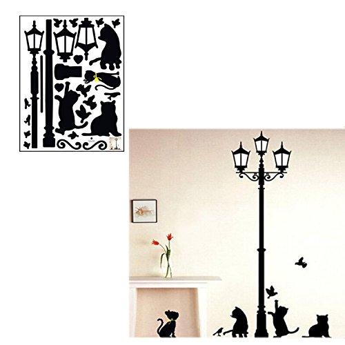 Gatto fantasia rimovibile in pvc decorativo muro adesivi decalcomanie auto home decor fai da te