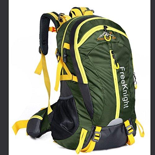 Il nuovo modo impermeabile borsa sportiva per il tempo libero all'aperto 40L dello zaino di alpinismo Ultralight verde