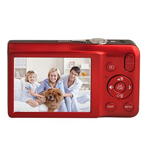 Galleria fotografica Fotocamera digitale compatta , Stoga fotocamera digitale DC-V100 mini Macchina fotografica digitale compatta 5 x Zoom zoom digitale 8 x 2,7 pollici camera ottica TFT LCD HD digitale compatta - Rosso