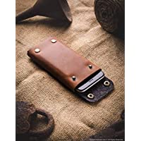 Leather iPhone Xs & Xs Max case / wallet, minimalist, slim sleeve/cardholder, unique, vintage, handmade Crazy Horse brown leather gift, 100% wool felt, 2018 iPhone Xr / X / 8 / 7 / 6 / 6s cover, Crazy Horse Craft