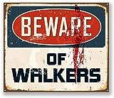 2 x 10cm Beware of Walkers Sticker Car iPad Laptop Decal Fun Sign Zombie #5732 (10cm Wide x 8.5cm Tall)