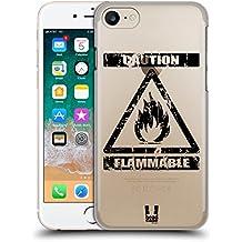 Head Case Designs Infiammabile Simboli Di Pericolo 2 Cover Retro Rigida per Apple iPhone 7 / 8