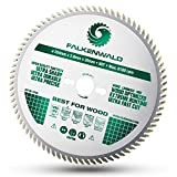 Falkenwald ® Sägeblatt 254x30 für Holz - Feiner Schnitt durch 80 HM Zähne - Kompatibel mit Bosch GTS 10 XC, PTS 10 Tischkreissäge & Metabo Kappsäge KGS 254 M - [DIN...