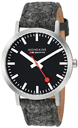 Mondaine Mens Analog Swiss-Quartz Watch with -Leather Strap A660.30360.14SBH
