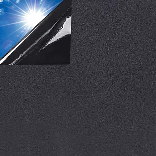 Rwest X Fensterfolie Schwarz|Dunkel Folie Fenster|Privatsphäre Folie Licht Blockieren|Selbstklebend Statische Fensterfolien|Verdunkelnde mit Anti-UV Folie für Kinderbetten oder Badezimmern