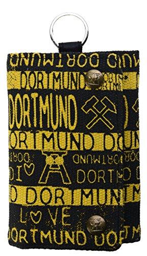 Geldbörse Canvas DORTMUND schwarz gelb Portemonnaie BG3409A ✅