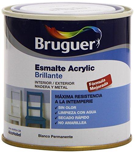 Bruguer 5160638 - Esmalte acrílico brillante BLANCO PERMANENTE