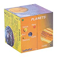 ZooBooKoo Educational Planets - Solar System Statistics Cube Book