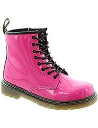 Dr Martens, botines de encaje Delaney en rosa Patent