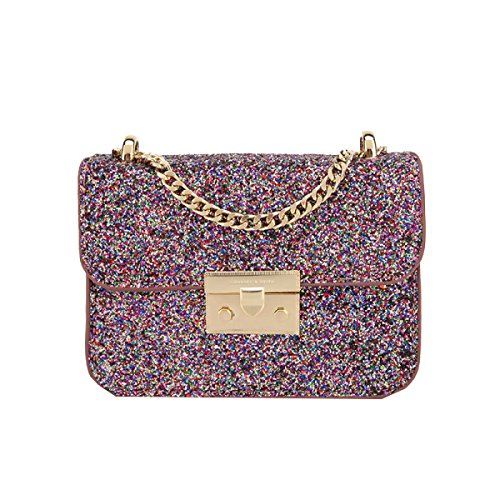 Yy.f High-End-Mode-Handtaschen Funkelndes Silber Umhängetasche Kleines Quadratisches Paket Handtaschen Taschen 2 Farben Art Und Extrinsische Intrinsisches Und Praktisch Pink