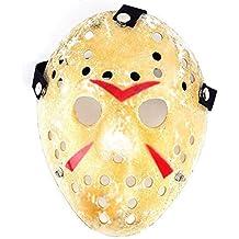 Edealing Máscara 1PCS oro de la vendimia Voorhees Freddy Hockey Festival partido de la mascarada de