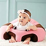 Besties Baby Soft Plush Cushion Cotton Baby Sofa Seat Infant Safety Car Chair Learn to Sit Stool Training Kids Support Sitting for Dining (Pink)