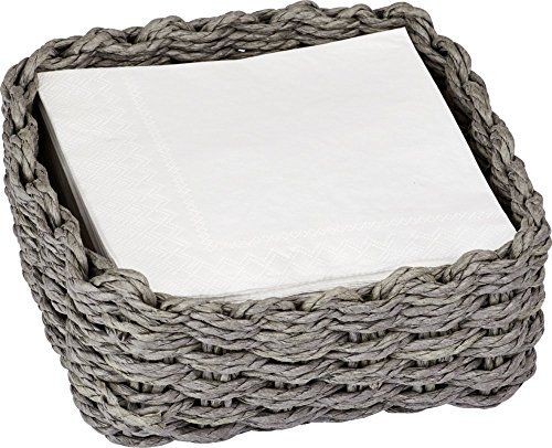 Tejido gris papel servilletero–Cóctel tamaño
