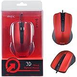 Souris optique 3D K3376 1000 dpi pour PC - rouge