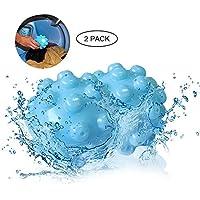 KOBWA Bolas Secadoras Antiarrugas,Removedor De Arrugas Vapor Ropa Seca Bola Reutilizable Lavado con Eco-Amigable Suavizante de Telas Alternativa para Todos los Tejidos (2pcs)