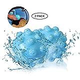 KOBWA Falten-Entferner,Trocknerbälle Kleidung Wäscherei Ball Wieder Verwendbare Wäschetrockner Bälle mit Umweltschutz Falten Freigabe Gewebe Erweichenden Alternative für Alle Stoffe (2pcs)